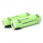 1.2V 2300mAh Rechargeable Ni-MH AA Battery - Grass Green (2PCS)