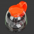 AS-168-Glas + Edelstahl + Kunststoff Teekanne - Orange + Transparent (1200ml)
