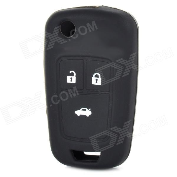 Silicone Protective Key Cover for Chevrolet - Black gel100601 universal silicone car key cover for vw more black