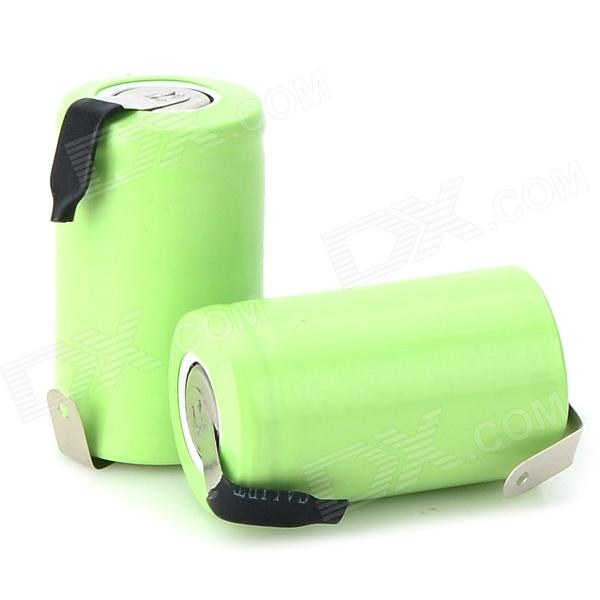 1.2V 1100mAh Ni-MH Rechargeable 123A Battery w/ Soldering Lug - Grass Green (2 PCS) yes yes relayer cd dvd