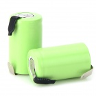 1.2V 1100mAh Ni-MH Rechargeable 123A Battery w/ Soldering Lug - Grass Green (2 PCS)