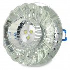 3W 80lm 6500K 3-LED White Ceiling Lamp / Spotlight - Translucent Black + Silver (AC 220V)
