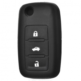 Car Keychain Silicone Cover for VW - Black