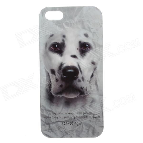 C100007 Animal Series Cute Spotted Dog Style Plastic Back Case for IPHONE 5 / 5S - White + Black coteetci w6 luxury stainless steel magnetic watchband for apple watch series 1 series 2 38mm gold