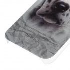 C100007 Animal Series Cute Spotted Dog Style Plastic Back Case for IPHONE 5 / 5S - White + Black