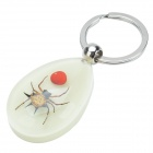 Red Bean & Spider Pattern Acrylic Insect key chain - Black + Silver