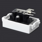 DIY 128 Dual Color Non-soldering Audio Socket Module - White + Black
