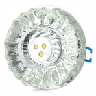 3W 80lm 3000K 3-LED Warm White Ceiling Lamp / Spotlight - Translucent Black + Silver (AC 220V)