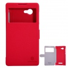 NILLKIN Protective PU Leather + PC Case for Lenovo A880 - Red