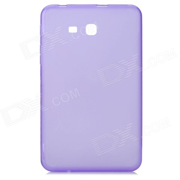X Style Anti-Slip Protective TPU Back Case for Samsung Galaxy Tab 3 Lite T110 - Purple anti slip tpu joystick thumbstick cap covers for ps4 xbox one red 10 pcs