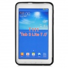"""X"" Style Anti-Slip Protective TPU Back Case for Samsung Galaxy Tab 3 Lite T110 - Black"