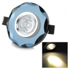 1W 30lm 3000K 1-LED Warm White Ceiling Lamp / Spotlight - Black + White (AC 220V)