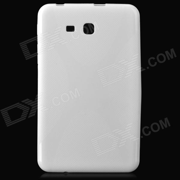 X Style Anti-Slip Protective TPU Back Case for Samsung Galaxy Tab 3 Lite T110 - White protective silicone case for nds lite translucent white