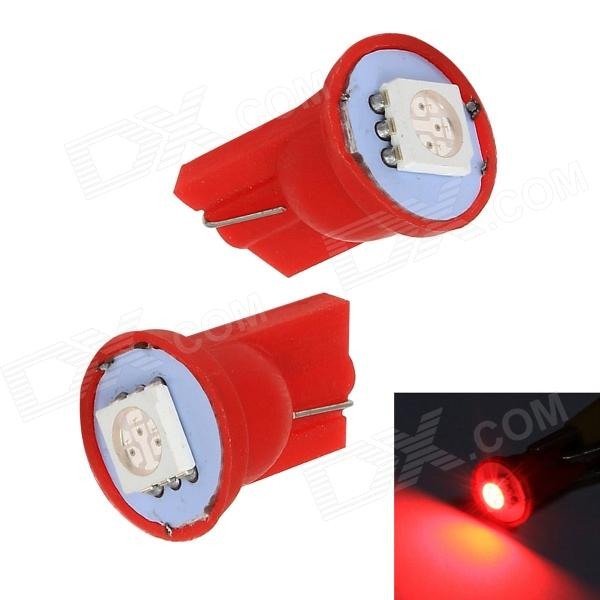 Merdia T10 1W 60lm SMD 5050 LED Red Light Car Tail light - (12V / 2 PCS) merdia t10 0 5w 10lm 1 x smd 5050 led green light car tail light 12v 2 pcs