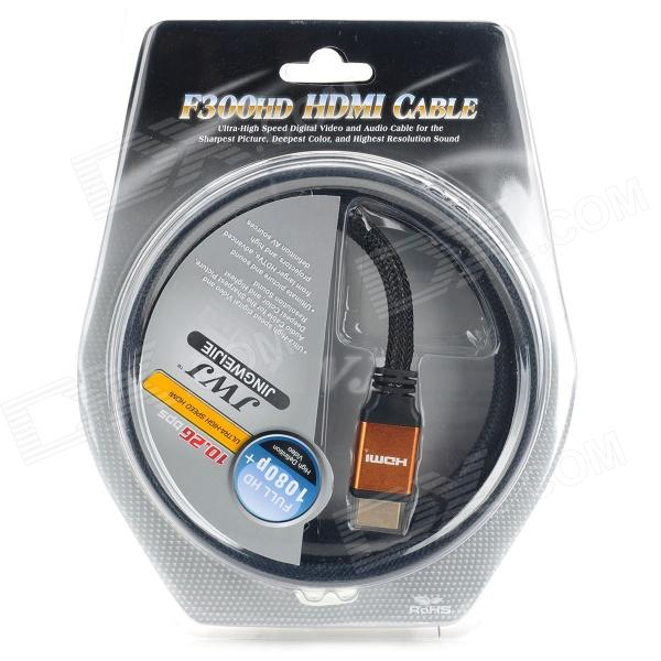 Gold Plated 1080P HDMI V1.3 M-M Connection Cable (1.8M-Length) premium gold plated 1080p hdmi v1 3 m m shielded connection cable 3m length