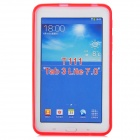 """X"" Style Anti-Slip Protective TPU Back Case for Samsung Galaxy Tab 3 Lite T110 - Red"
