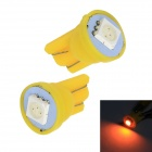 Merdia T10 0.5W 50lm 1 x SMD 5050 LED Yellow Light Car Tail light - (12V / 2 PCS)