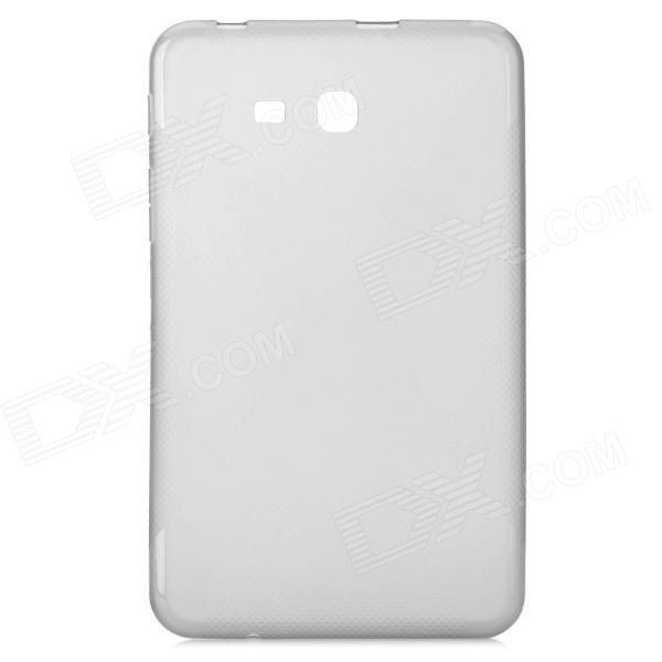 X Style Anti-Slip Protective TPU Back Case for Samsung Galaxy Tab 3 Lite T110 - Translucent Grey protective silicone case for nds lite translucent white