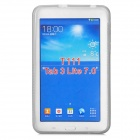 """X"" Style Anti-Slip Protective TPU Back Case for Samsung Galaxy Tab 3 Lite T110 - Translucent Grey"