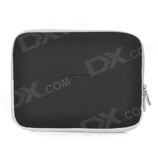 "Protective Lycra + EPE + Suede Dual Zipper Pouch Sleeve for 10.1"" Tablets - Black"