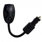 Buy 1 inch LCD Flexible Metallic Hose Bluetooth Handsfree Car Kit FM Transmitter - Black