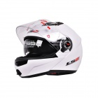 New Style LS2 Dual Lens Motorcycle Visor SUV Helmet - White - (Size-XL)
