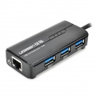 UGREEN USB 3.0 Super hastighet kablet Gigabit Lan-kort med 3-Port USB Hub