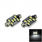 Canbus Error Free Festoon 39mm 2W 200lm 6-SMD 5630 LED White Car Roof Light Lamp (12V / 2 PCS)