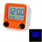 "AQ-73 TV Styled 2.9"" LCD Desktop Clock - White + Orange + Multicolored (3 x AAA)"