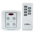 LIT 86 Wall Plate 4-CH IR Wireless Remote Control Section Switch - White