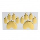 Creative Two Paw Pattern Plastic Car Decoration Sticker - Golden