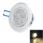 4W 180lm 3000K 3-LED Warm White Spotlight / Ceiling Lamp - White + Silver (AC 85~265V)