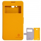 NILLKIN Protective PU Leather + PC Case Cover for HUAWEI Honor 3X (G750) - Yellow