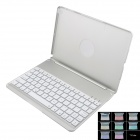 Automatic Connecting Bluetooth V3.0 78-Key Keyboard Case w/ 7-Color Backlight for IPAD AIR - Silver