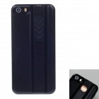 FIRE CASE Protective Plastic Back Case for IPHONE 5 / 5S w/ USB Rechargeable Lighter - Black