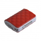 JJZ Portable 6500mAh  External Battery Charger Power Bank for Cell Phone + More - Red + White