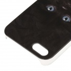 C100004 Animal Series Cute Black Cat Style Protective Plastic Back Case for IPHONE 5 / 5S - Black