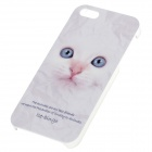 C200004 Animal Series Cute Cat Style Protective Plastic Back Case for IPHONE 5 / 5S - White