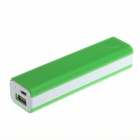 DIY GXSM-08 18650 Mobile Power Case for IPHONE / IPOD / HTC / Samsung + More - Green + White