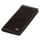 C.S.C CS728WI Stylish Men's Long Cowhide Purse Wallet - Dark Brown