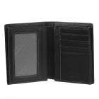 C.S.C AA3003EI Men's Superior Cowhide Wallet - Black