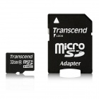 Transcend 32GB microSDHC Class 10 133x Flash Memory Cards 20MB/s with Adapter
