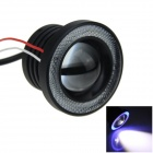 18W 800lm 2-LED White Car Fog Light / Headlight w/ Blue Angel Eye Circle Lamp - (12V)