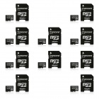 Transcend 16GB microSDHC Class 10 133x Flash Memory Cards with Adapter (10 PCS)