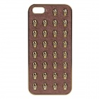 Skull Pattern Protective Plastic Back Case for IPHONE 5 - Golden + Brown