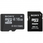 SONY MICRO SDHC CLASS 4 WITH MICRO SD ADAPTOR - 16GB