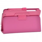 Stylish Protective PU Leather Case Cover Stand w/ Auto Sleep for ASUS ME173/175 - Deep Pink