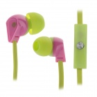ELMCOEI V2 Fashionable In-Ear Earphones w/ Microphone - Green + Pink (3.5mm Plug / 125cm-Cable)