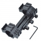 Q30 30mm Dual Aluminum Alloy Oblique Conjoined Bracket Gun Rail Mount w/ Wrench - Black
