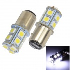 Merdia 1157 1.5W 182lm 13 x 5050 SMD LED White Light Car Brake / Steering Light (12V / 2PCS)